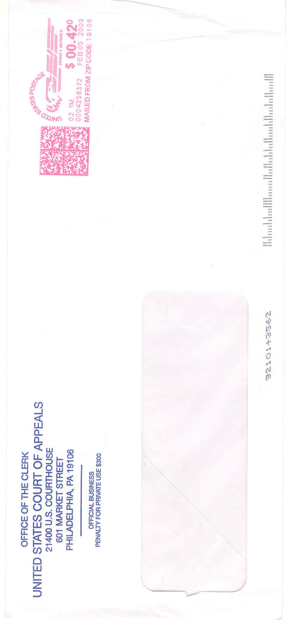 Index Of Cc Obama Third Circuit Letter 2009 02 05