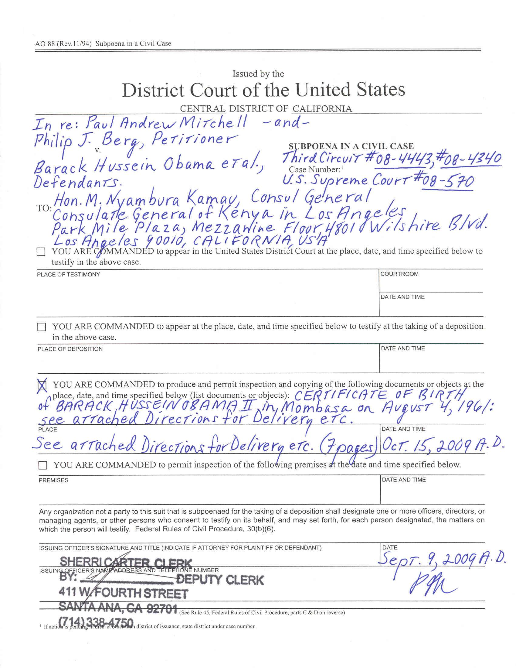 Index of ccobamathirdrcuitsubpoena subpoenanyabassador1g madrichimfo Image collections